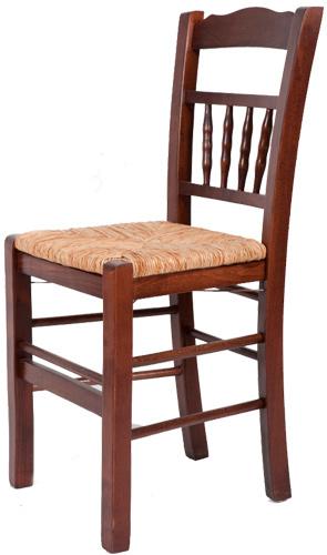 Ξύλινη παραδοσιακή καρέκλα καφενείου, ταβέρνας ή εστιατορίου καγκελακι