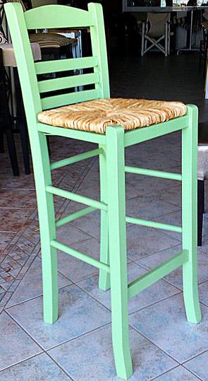 Παραδοσιακό ξύλινο σκαμπώ καφενείου Επιλοχίας
