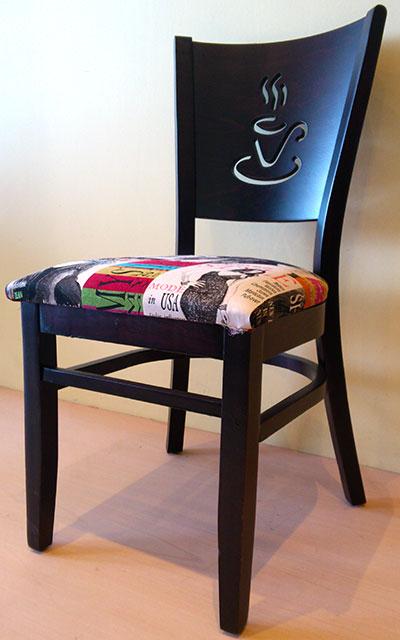 Ξύλινη Καρέκλα Paris με σχέδιο