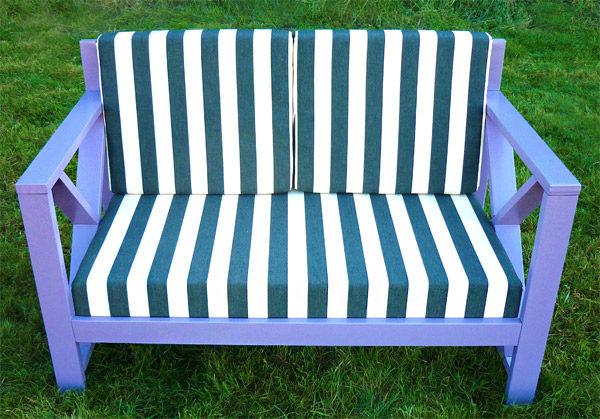 Ξύλινος καναπές Χιαστί