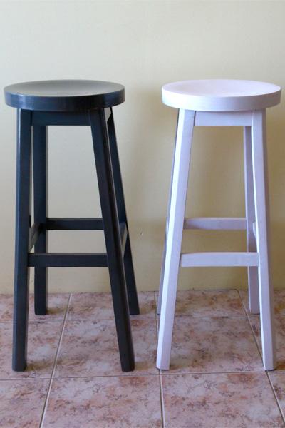 Ξύλινο Σκαμπό Κλασσικό στρογγυλό κάθισμο